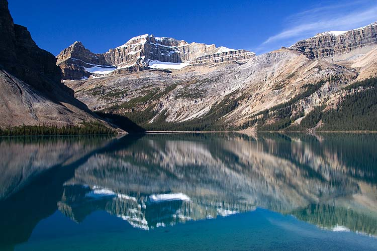 The Rockies Reflected in Bow Lake