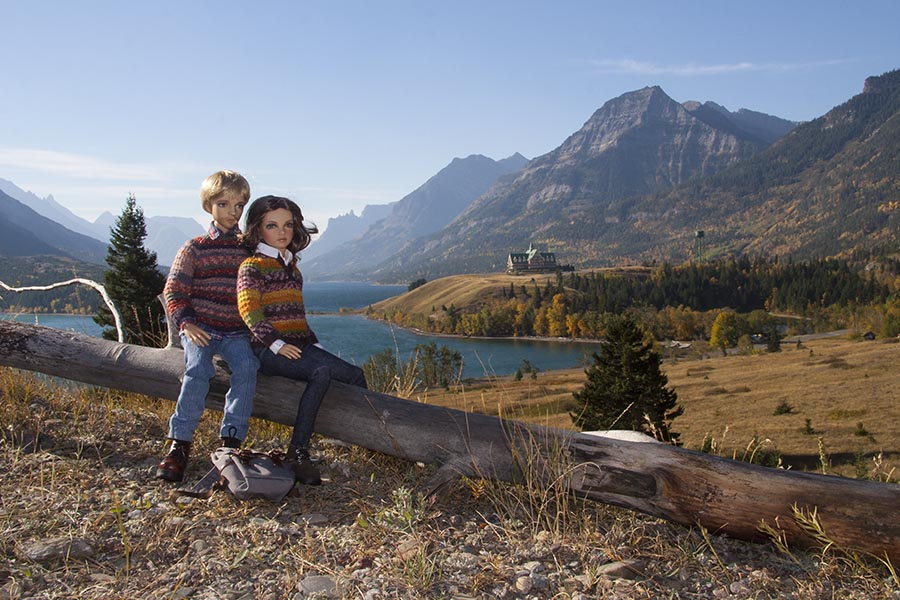 Owen & Leona in Waterton Lakes
