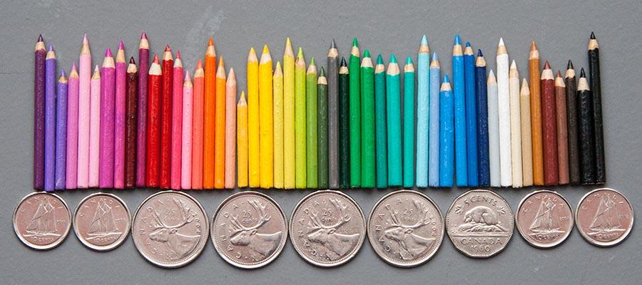 Tiny Coloured Pencils